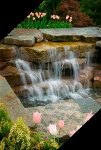 Садовый водопад в Краснодаре
